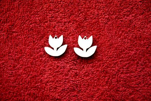 2D výřez naušnice tulipán v.1,9x2cm