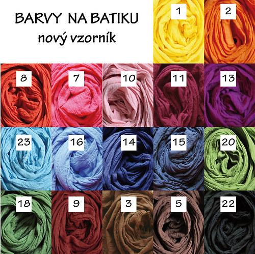 barvy na batiku za studena