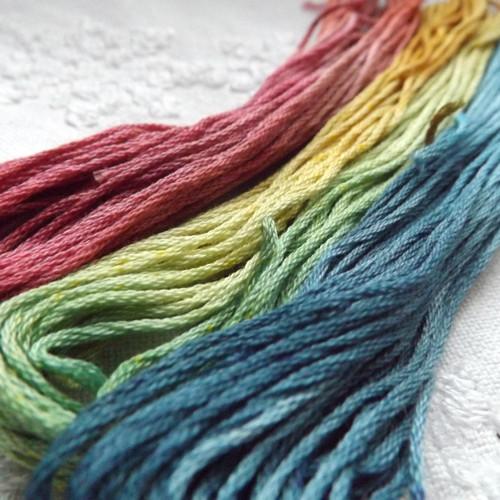 Ručně barvené bavlnky č. 3