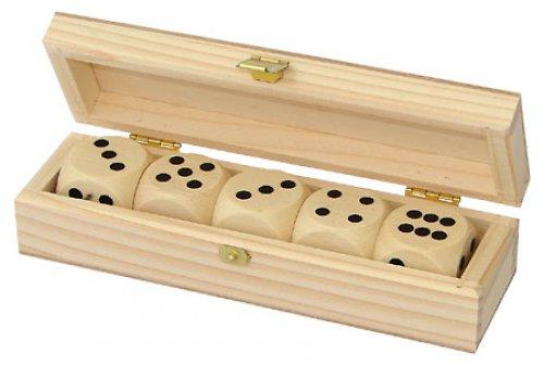 Dřevěná krabička na kostky nebo šperk DL145