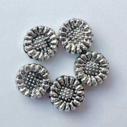 Stříbrný korálek slunečnice (10ks) K212 SLEVA