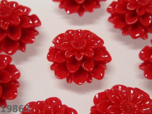 19863-10 Kabošon květ JASNĚ ČERVENÝ, bal. 2ks