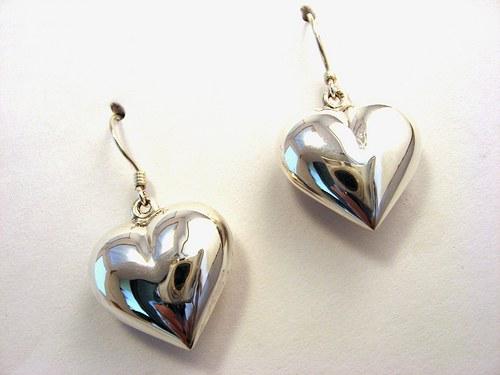 Hearts4ears - celostříbrné náušnice.