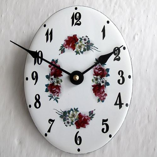 Smaltované hodiny 344