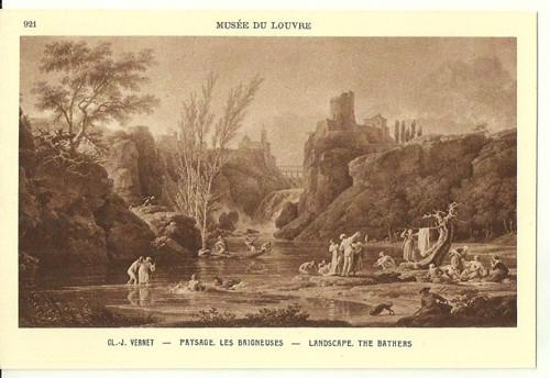 Umělecká pohlednice Cl.J.Vernet
