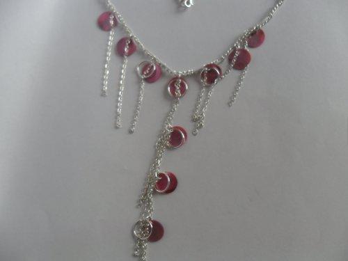 SLEVA růžový perleťový náhrdelník