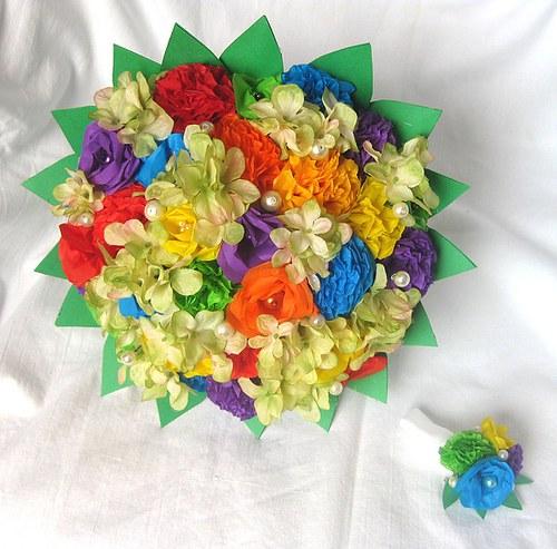 Svatební kytice a korsáž na přání