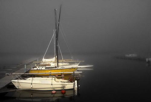 """Fotografie \""""Ranní mlha na Lipně\"""""""