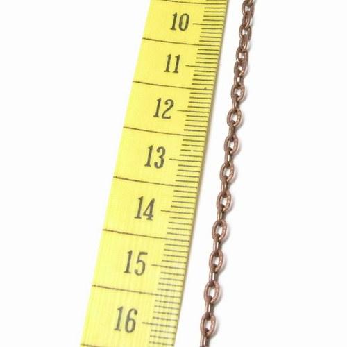Řetízek 50 cm staroměděný