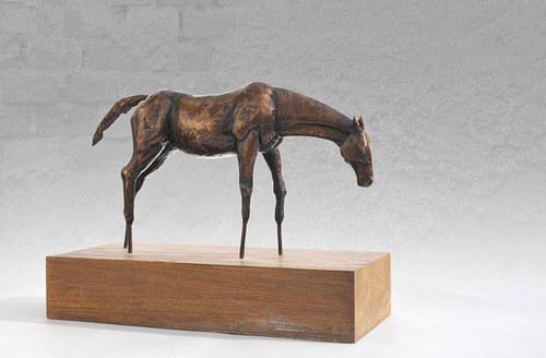 Kůň - bronzová socha - originál