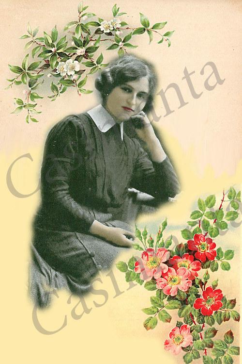 Královna květin - vintage motiv