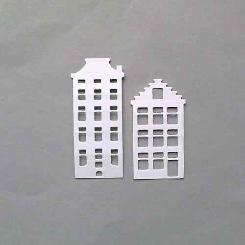 Výsek - Domečky 2 ks - barva dle přání