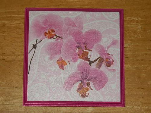Obrázek na MDF destičce Orchidej VI