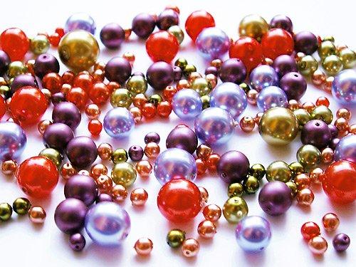 Voskové perle - oranžovofialovozelená směs