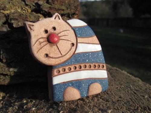 Keramický zápich - kočka