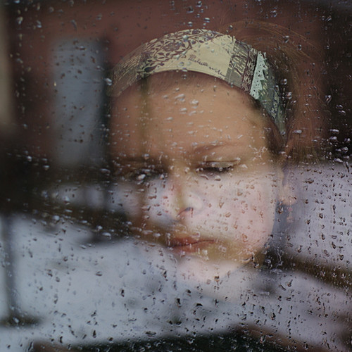 svět za oknem II ...dámská čelenka