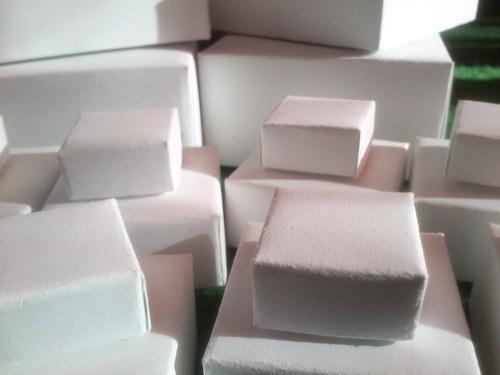 papírová krabička bílá mini 3x3