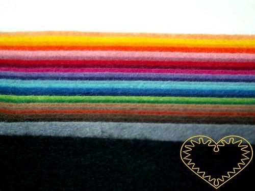 Plsť - filc dekorační - sada 25 barev
