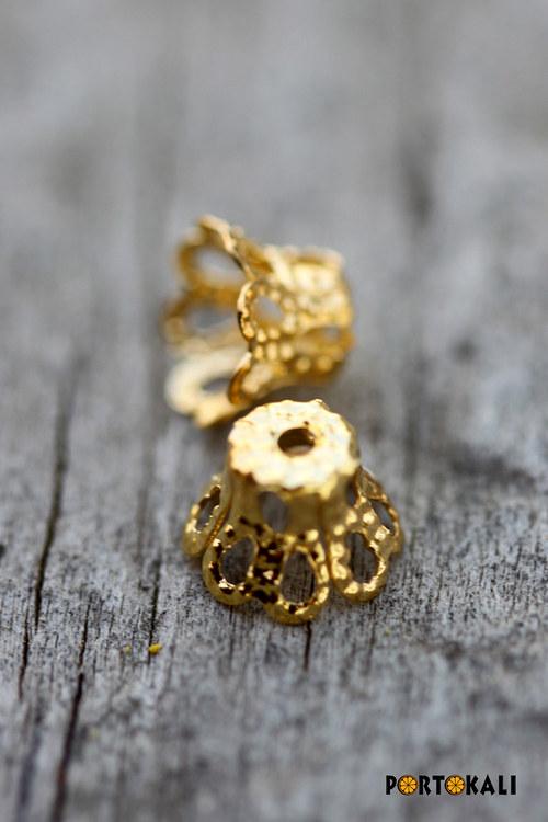 Kaplíky zlaté 50 ks