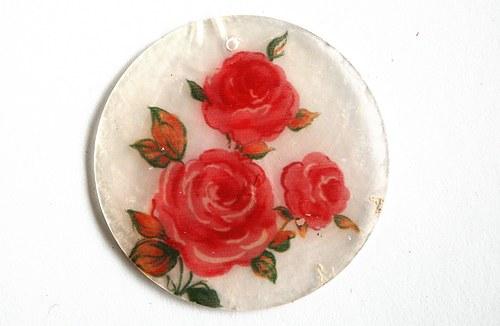 203 perleťové placky tenké - tři růže