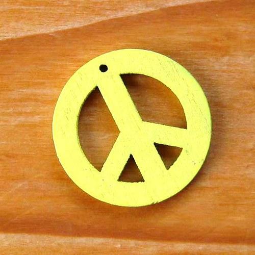 Dřevěný Hippies - Žlutý