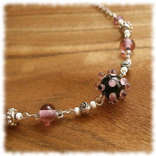 fialková něha ... náhrdelník, VÝPRODEJ z 210,-