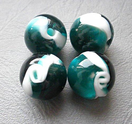 Smaragdový s vlnkou - 1ks