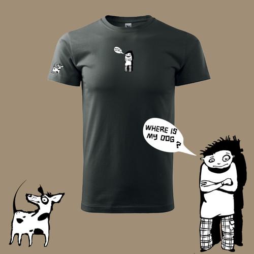 Where is my dog?   (pánské tričko XL)