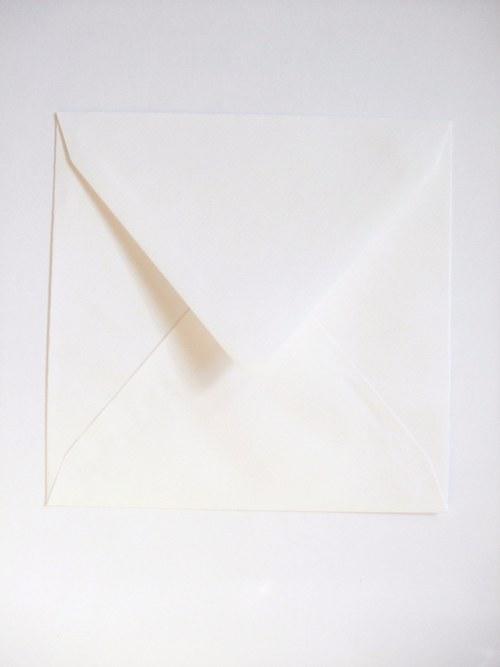 obálka čtvercová - bílá