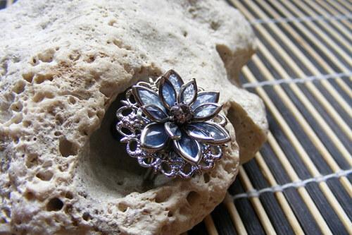 Lotosový kvítek - modrý prsten