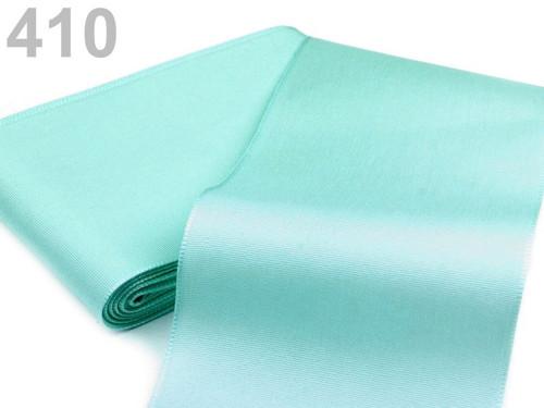 Taftová stuha 108mm (10m) - zelená peprmintová