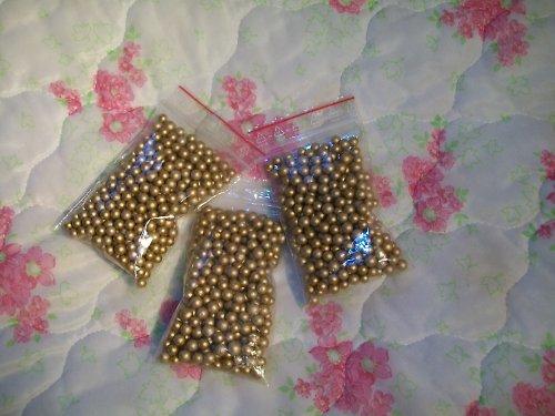 zlaté kuličky polystyrénové - 1 sáček