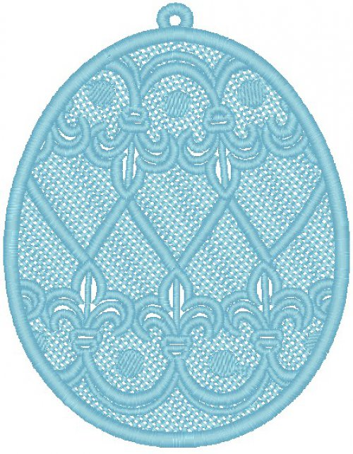 Krajkové vajíčko 3