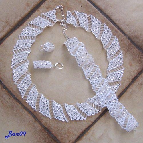 Luxusní svatební souprava bílá