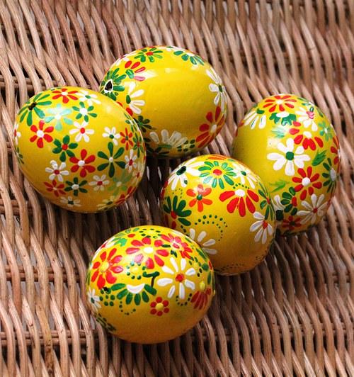 Žluté velikonoční kraslice