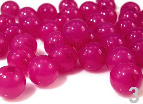 Korálky plast Ø12mm kulička II.jakost -růžová