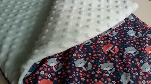 zimní deka - lišky