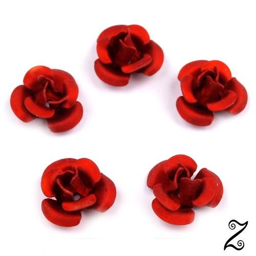 Kovová růžička, červená krev, 12 mm (10ks)