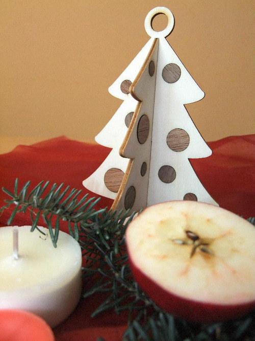 Vánoční strom, stromeček - BAŇKY 15 cm