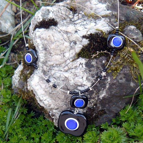 Náhrdelník - tmavě modré oko