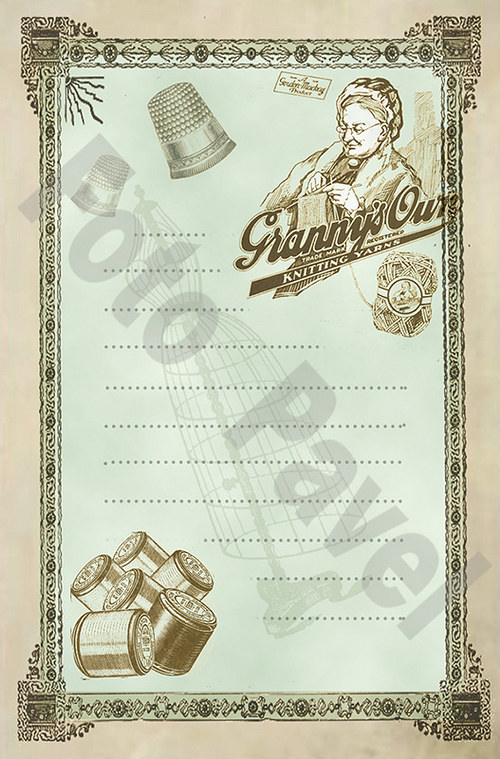 Vintage motiv -  Kartička14