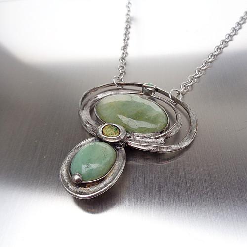 Za polárním kruhem - náhrdelník s akvamarínem