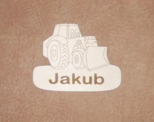 Cedulka Barg s nápisem