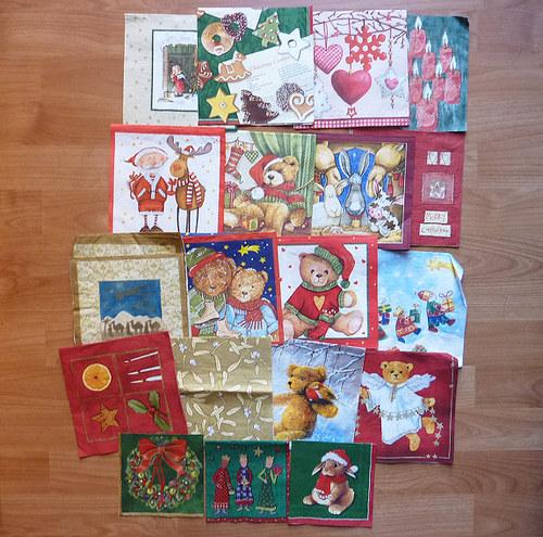 20ks vánočních ubrousků