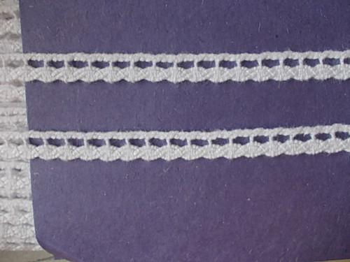Paličkovaná krajka bílá 6 mm
