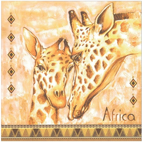 Ubrousek na decoupage žirafy