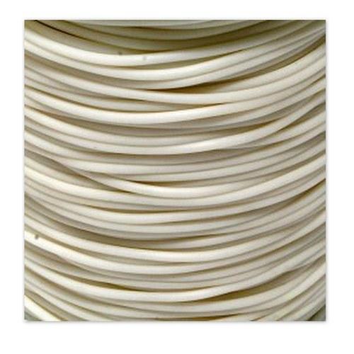 Gumová šňůrka - dutinka / 2 mm / Bílá