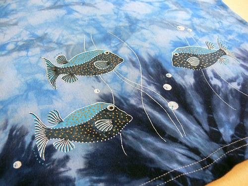 Batikované malované tričko