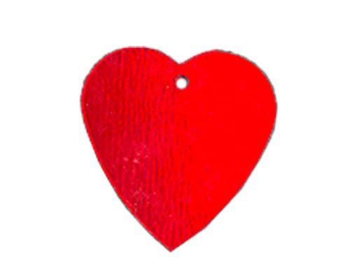 Flitry - červené srdíčko s dírkou (7844C-020)  3 g