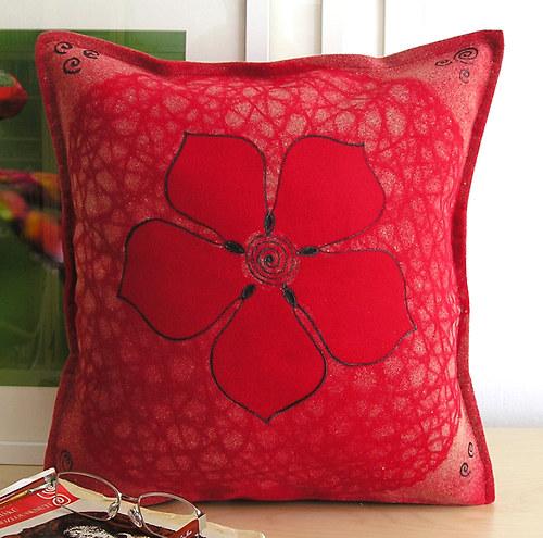 Červená růže/povlak